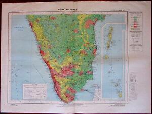 Working Force Southern India Andaman Nicobar isles 1978 National Atlas India map