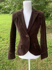 Max Studio Blazer Jacket Size 4 Small Brown Velvet Suit Jacket Special Edition