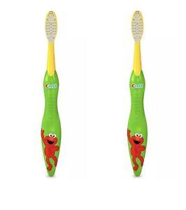 Crest Kid's Sesame Street Toothbrush, Soft, Assorted Sesame characters 2 Packs