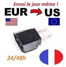 Adaptateur Secteur EUR 220v vers 110v USA Vers Prise voyage Eur FR to US