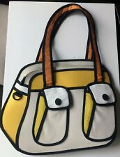 Jump From Paper Bonjour Bag Yellow White Padded 2D 3D Bag Illustrated Design