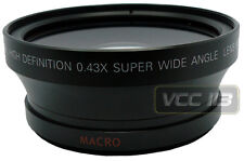 72mm Wide Angle Lens 0.43X  for Panasonic AG-DVX100A AG-DVC80