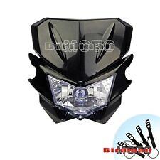 Motorcycle Headlight  Headlamp For Supermoto Yamaha Honda KTM Kawasaki Black