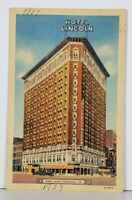 Indiana HOTEL LINCOLN Indianapolis c1930s Linen Postcard K6