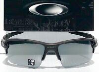 NEW* Oakley FLAK JACKET 2.0 Matte Black POLARIZED Black Iridium XL Sunglass 9188