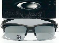 NEW* Oakley FLAK JACKET 2.0 Matte Black POLARIZED Black Iridium XL Sunglass 9188
