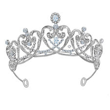7cm High Quality Heart CZ Crystal Wedding Bridal Party Pageant Prom Tiara Crown