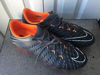 Nike Hypervenom Phantom 3 Elite FG Soccer Cleats Men's Size 10 Grey Orange