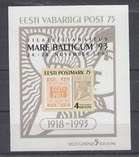Estonia 1993 foglietto 1 francobollo estone MNH