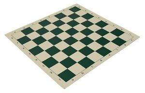 """20"""" Vinyl Chess Board – Meets Tournament Standards - Green - 2.25 Inch Squares"""