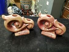 """Pair Vintage GONDER USA Made No 565 16"""" Mid Century 4"""" X 6"""" Candle Holders"""