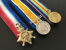 WW1 TRIO MINI MEDAL SET (1914-15 Star, BWM and Victory) + FREE Postage