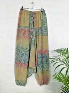 GRINGO Striped Floral Print AFGHANI Trousers Freesize Waist up to 36 ' BOHO