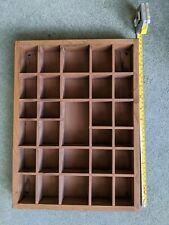 WOODEN THIMBLE Collectible DISPLAY SHELF, pine, holds 29 items