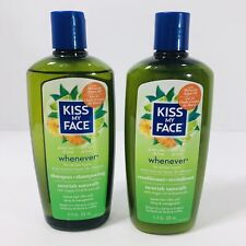 Kiss My Face WHENEVER Shampoo & Conditioner Discontinued Moroccan Argan Oil NEW