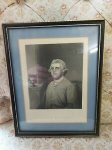 Framed Picture / Etching of Josiah Wedgwood 24cm x 19cm