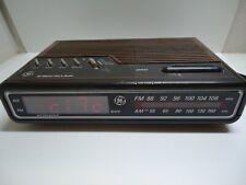 Vintage GE 7-4612B AM/FM Alarm Clock Radio Digital LED General Electric-tested