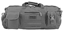 """EastWest USA """"The Tactical Duffle Bag"""" Duffel Camping Utility Bag MOLLE - Gray"""