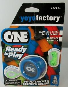 "2012 YO-YO FACTORY ""ONE"" READY TO PLAY / NEW IN PACKAGE / BLUE"