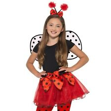 Childrens Girls Fancy Dress Ladybird Set Tutu, Wings & Headband Ladybug Smiffys