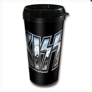 Kiss Logo Travel Mug Coffee Mug Souvenir Cup Off. License