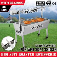 40kg Spit Roaster Rotisserie BBQ grill Chicken Back Over Stainless Steel