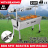 Large 1.2m Stainless 40kg Minion Spit Roaster Rotisserie Charcoal BBQ Grill
