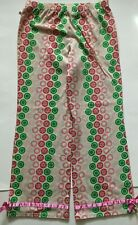 Limited Too Solid Pastel w Green & Pink Heart Crown Design Long Pajama Pants 10