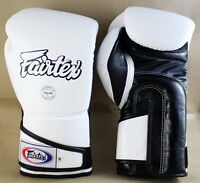 FAIRTEX MUAY THAI KICK BOXING BGV6 GLOVES WHITE BLACK COLOR SPARRING MMA