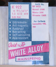 Alloy Watch Mainspring Nos Bf-Wc2, D.B. LeCoultre 449, 450 Quick Fit K-922 White