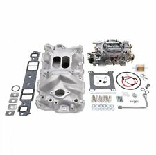 Edelbrock 2021 Single-Quad Intake Manifold/Carb Kit w/ 600 CFM Carb for Chevy SB