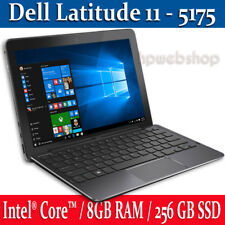 Dell Latitude 11 5175 256GB SSD 8GB Intel CORE M5-6Y57 up to 2.8Ghz LTE 1Yr Warr
