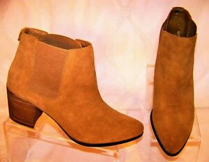 ANNE KLEIN Geordanna 15040616 Tan Brown Leather Ankle Womens Chelsea Boots US11M