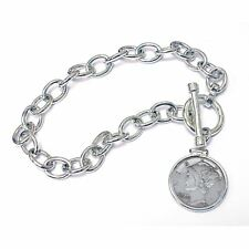 NEW  Year to Remember Sterling Silver Toggle Dime Coin Bracelet 1998