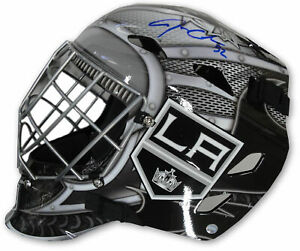 Jonathan Quick Signed Auto Full Size Mask Los Angeles Kings Steiner Blue Helmet