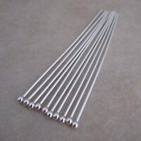 sterling silver 925 headpins ball pins 2 inch 21 gauge 2mm ball