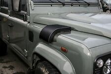 Land Rover Defender - STAINLESS STEEL Snow Cowl Intake Cover LHD (BLACK)