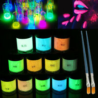 12 Colors Neon Fluorescent Acrylic Face Body Painting Glow in the Dark  Pigment