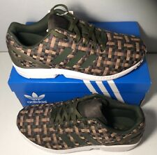 cd141c12573f5 adidas Originals Mens ZX Flux Trainers Night Cargo Umber Cardboar New with  box