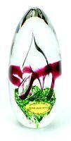 Vintage Signed ADAM JABLONSKI Hand Blown ART GLASS Crystal Made In POLAND