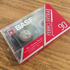 Sealed Vintage BASF 90 Stereo Blank Cassette Tape Ferro Extra I~IEC I Norm NOS