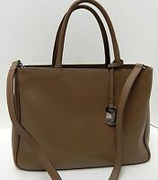 Furla Italy Daina Brown Saffiano Leather Convertible Tote Crossbody Bag