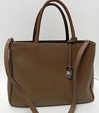 Furla Italy Daina Brown Saffiano Leather Convertible Tote Crossbody Bag