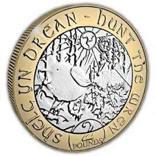 "Isle of Man 2018 Christmas ""Hunt the Wren"" £2 Unc. Bi-Metal Coin"