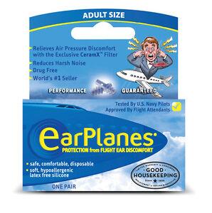 EarPlanes Adult Silicone Travel Earplugs - 1 Pair
