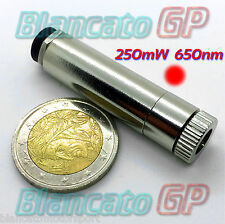 MODULO LASER 650nm 250mW PUNTO ROSSO RED DOT FUOCO REGOLABILE diodo 3V 5V 2.1
