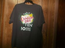 Pre-owned Mens Canada Dry Ten (10) Promo Tshirt-Size XL?-Grey
