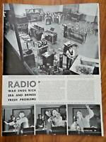 1942 Radio Article Ad  This is War  Comics Soap Operas Music WGAC Small Station
