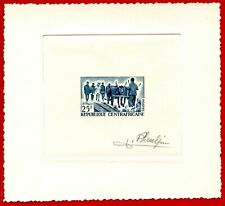 Central Africa 1965 #41, Artist Signed Die Proof, Oxen, Farming