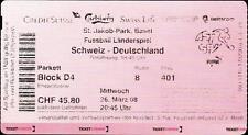 Ticket / Eintrittskarte 26.03.2008 Schweiz - Deutschland in Basel